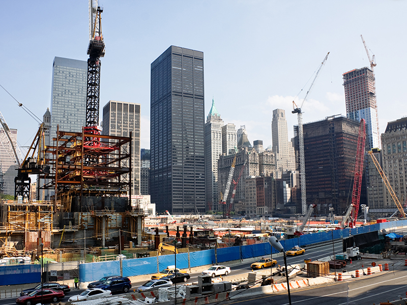 construction New York CIty world trade center site