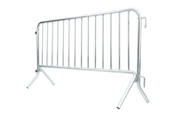 Metal Barricade with Fixed Feet