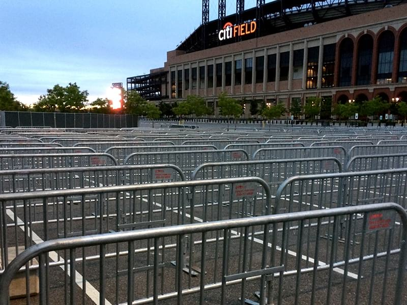 SONCO Barriers at MetLife Stadium for events crowd management