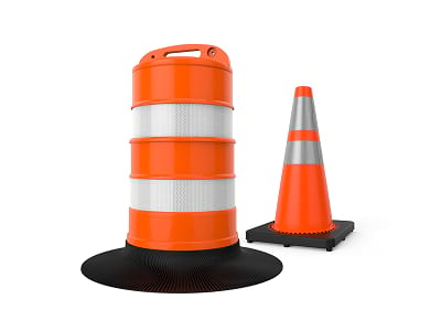 cone channelizer for traffic at covid pandemic