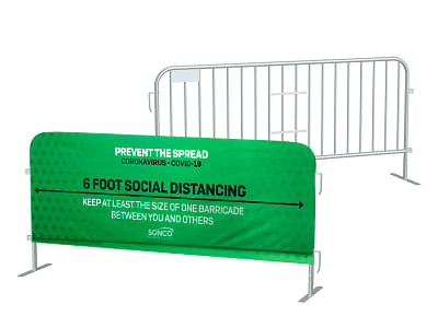 Barricade covers for prevent the spread of COVID-19
