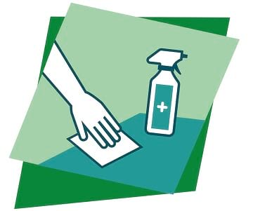 keep objects clean for prevent covid-19 in job sites