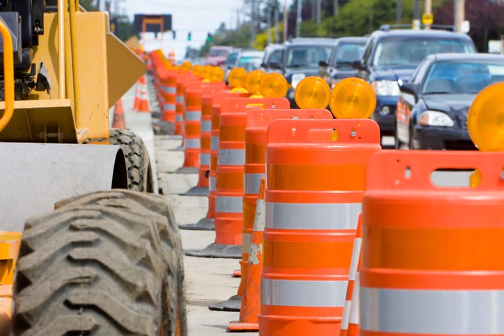 traffic safety for barricading in construction