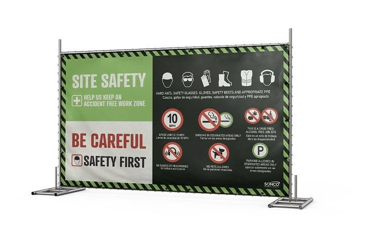 Osha safety sign for site safety